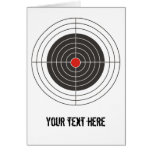 Target shooting for gun, rifle or firearm shooter cards