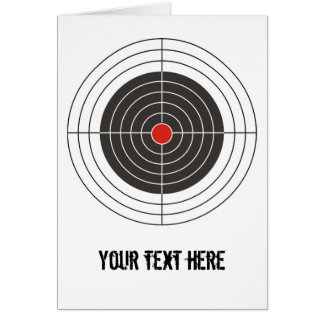 Target shooting for gun, rifle or firearm shooter card