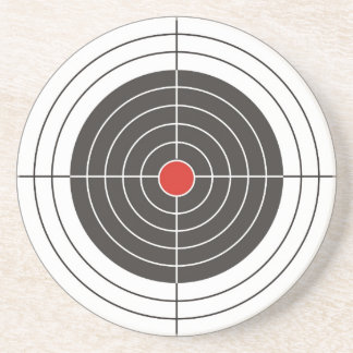 Target shooting for gun, rifle or firearm shooter coaster