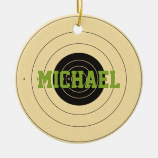Target Shooting Personalized Ornament