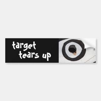 target tears up bumper sticker