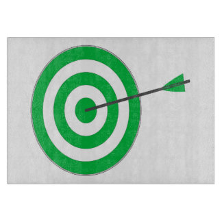 Target with arrow cutting board