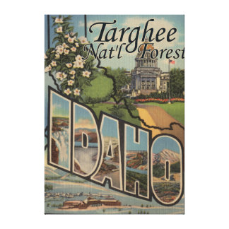 Targhee Nat'l Forest, Idaho - Large Letter Scene Canvas Print