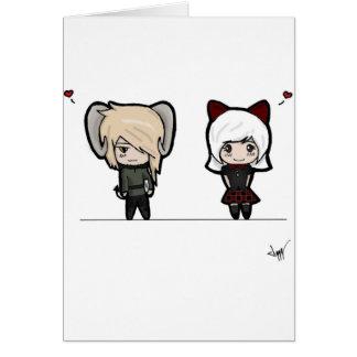 Tarin and Ishi chibis Card