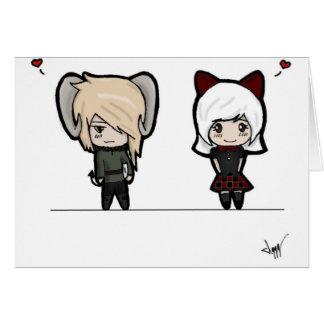 Tarin and Ishi chibis Greeting Card