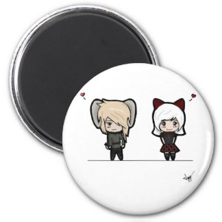 Tarin and Ishi chibis Refrigerator Magnets