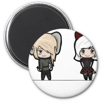 Tarin and Ishi chibis Refrigerator Magnet