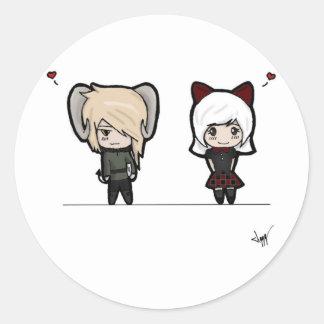 Tarin and Ishi chibis Sticker