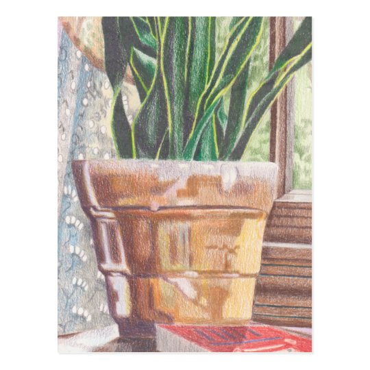 tarjeta de postal con planta/plant postcard