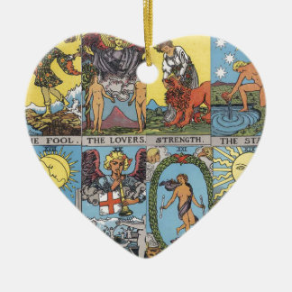 Tarot Card Collage Christmas Ornament