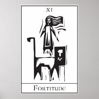 Tarot Card Fortitude Poster