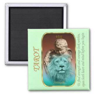 Tarot Card - Strength Square Magnet