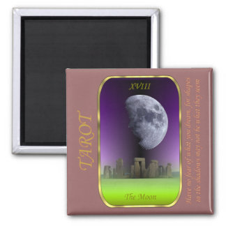 Tarot Card - The Moon Square Magnet