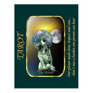 Tarot Card - The World Postcard