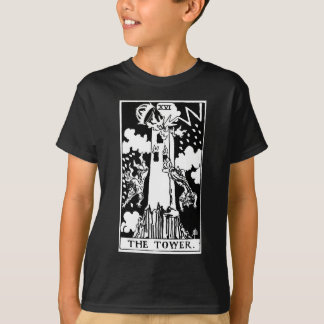 Tarot card 'tower' T-Shirt