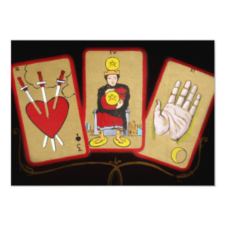 Tarot Cards (1) 13 Cm X 18 Cm Invitation Card