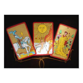 Tarot Cards (2) 13 Cm X 18 Cm Invitation Card