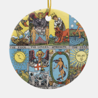 Tarot Cards Collage Christmas Ornament