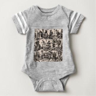 Tarot cards pattern baby bodysuit