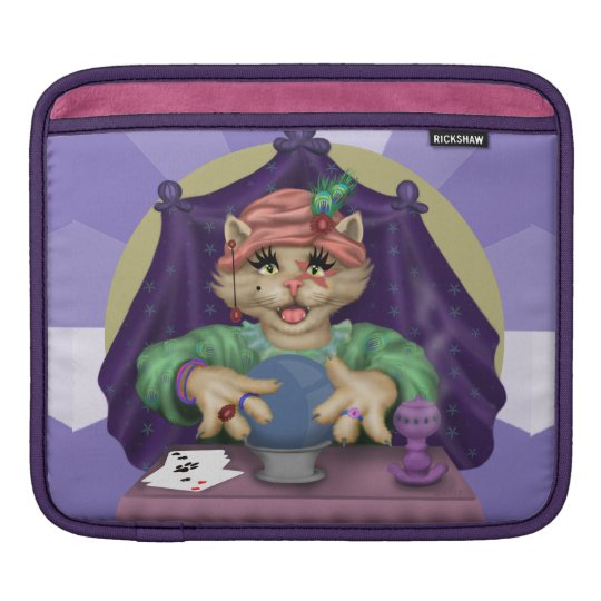 TAROT CAT CARTOON IPAD H SLEEVES FOR iPads