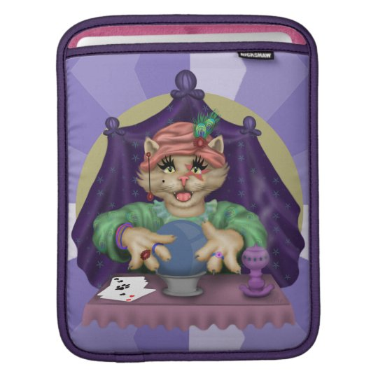 TAROT CAT CARTOON IPAD iPad SLEEVE