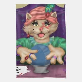 TAROT CAT CARTOON TOWEL