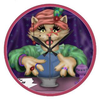 TAROT CAT Clock Round (Large)