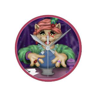 TAROT CAT Clock Round (MEDIUM)