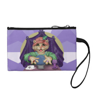TAROT CAT Key Coin Clutch Bag