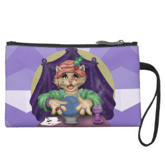 TAROT CAT Sueded Mini Clutch Bag