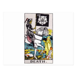 tarot-death postcard