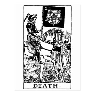 Tarot 'death' postcard