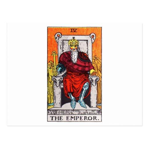 tarot-emperor postcards