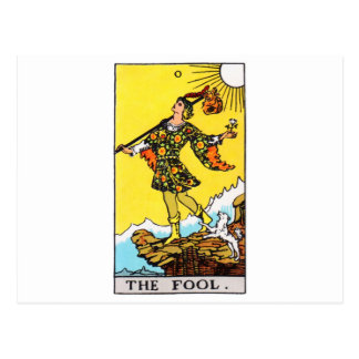 tarot-fool postcard