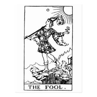 Tarot - fool postcard