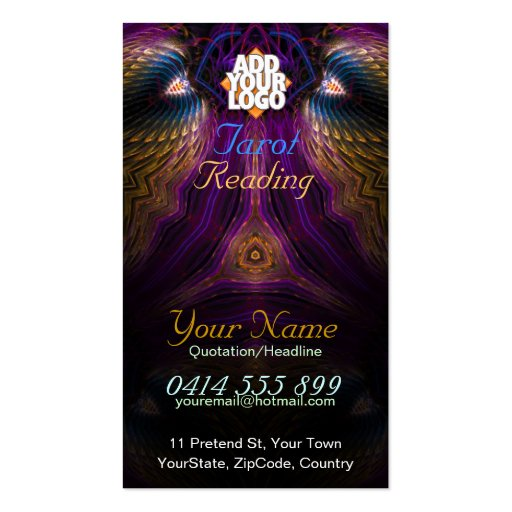 Collections of tarot card business cards for Tarot business cards