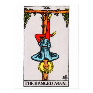 tarot-hangedman postcard
