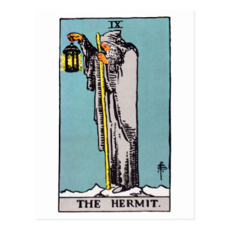 tarot-hermit post card