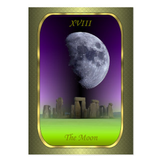 Tarot Profile Cards - The Moon Business Card Templates