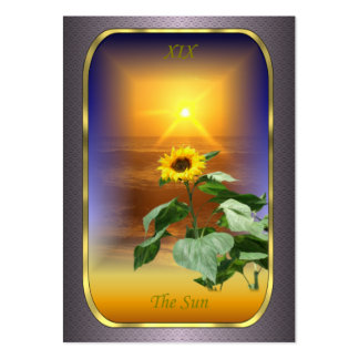 Tarot Profile Cards - The Sun Pack Of Chubby Business Cards
