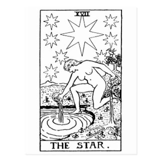 Tarot 'star' postcard