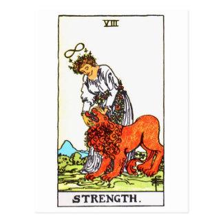 tarot-strength postcard