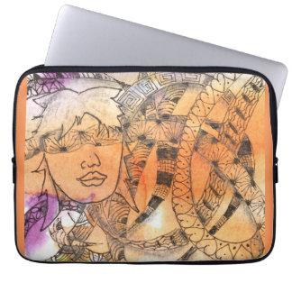 Tarot Symbol Blindfold Laptop Sleeve