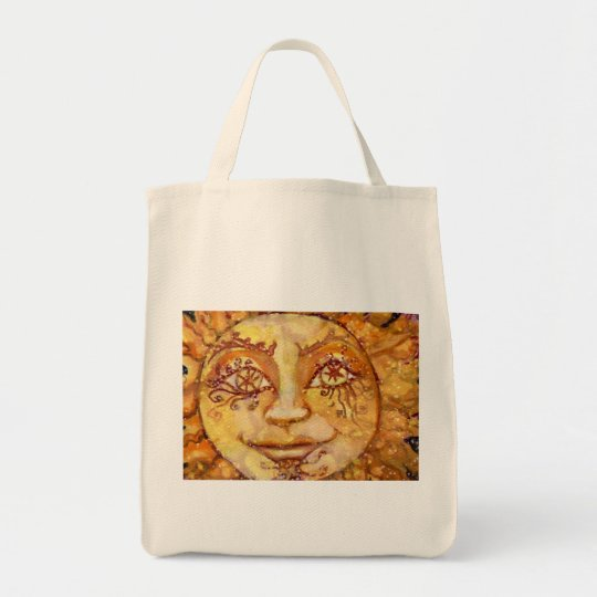 Tarot the Sun Grocery Bag