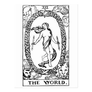Tarot 'The worl'd Postcard
