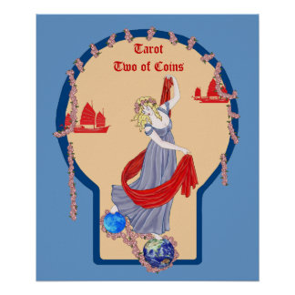 Tarot Two of Coins Posters