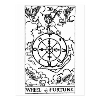 tarot 'wheel of fortune' postcard