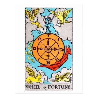 tarot-wheel of fortune postcard