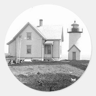 Tarpaulin Cove Lighthouse Round Stickers