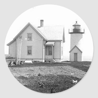 Tarpaulin Cove Lighthouse Round Sticker
